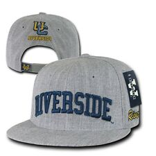 Gray UC Riverside Highlanders UCR NCAA Flat Bill Snapback Ball Baseball Hat Cap