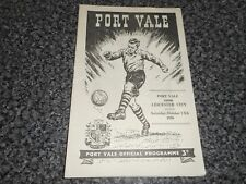 PORT VALE  v  LEICESTER CITY  1956/7  ~ OCT 13th    VINTAGE  *****FREE POST*****