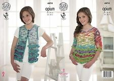 King Cole Opium Knitting Pattern 4474 Waistcoat & sweater