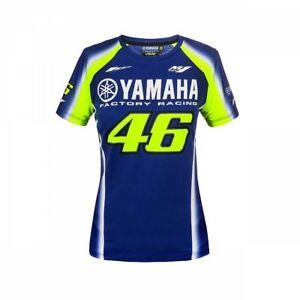 VR46 Valentino Rossi MotoGP Womens Yamaha 46 Racing Official T-Shirt - Blue