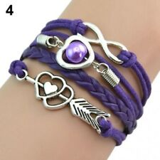 Multi Corded Purple Bracelet With Silver Colour Features Brand New