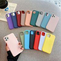 For iPhone 12 mini 11 Pro Max XS XR X 8 7 Plus Matte TPU Soft Phone Case Cover