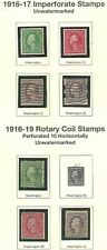 U.S. 1916-17 IMPERF ISSUES #481-84 1c to 3c & P10 COIL UnWM #486-488-89 Scan