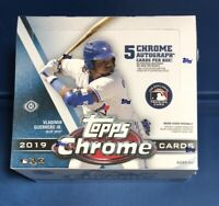 2019 TOPPS CHROME JUMBO HOBBY BOX FACTORY SEALED 5AUTO baseball fedex ship