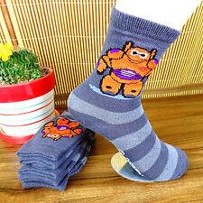 New 1Pairs Gray Cartoon Children Stripes Pure cotton Socks 15*18 CM BWZ18