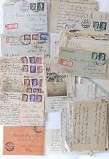 grouping of letters and cards france under occupation 1943-44  inc pow letter