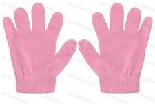 Childrens Boys Girls Kids Plain Mini Magic Stretch Gloves Winter Warm Dark Pink
