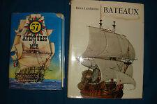 lot de 2 livres sur les bateaux , l'un illustré et l'autre plutôt d'aventures