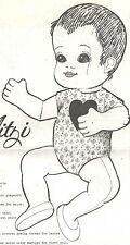 """16""""CLOTH/SOFT SCULPTURE BENT LEG BABY DOLL CLOTHES/PANTSUIT/SUNSUIT SHOE PATTERN"""