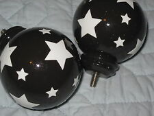 Ball Stars Brown Finials Set/2 from Pottery Barn Kids