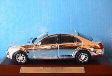 MERCEDES BENZ S500 2010 CHROME IXO 1/43 WOODEN BASE NEW