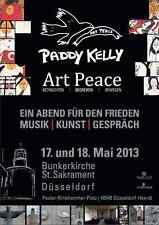 PADDY KELLY Art Peace - Bunkerkirche, Düsseldorf - Das original Plakat