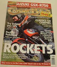 Moto clásica 7/05 Bsa Road Rocket, Suzuki Gsx-r750, Yamaha válvula de alimentación