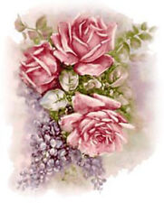 VinTaGe IMaGe LiLaCs & RoSeS SHaBbY WaTerSLiDe DeCALs TRaNsFeRs *FuRNiTuRe SiZe*