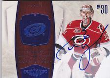 10-11 Dominion Cam Ward 10/10 Auto BLUE Hurricanes 2010 Autograph