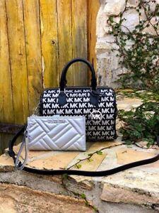 Michael Kors Bedford Signature Small Duffle Bag/ zip wallet Signature NWT Black