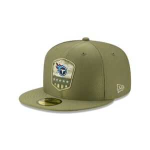 NWT New Era Tennessee Titans Salute To Service Hat Cap On Field Fitted Sz 7 1/2