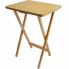 Premier Housewares 2401328 Folding Snack Table Natural Wood