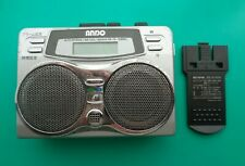 ANDO RC7-874D Cassette Player, Silver! For Parts or Repair