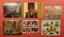 2 Disney Sets + S/S Gambia + St. Vincent Mint Never Hinged