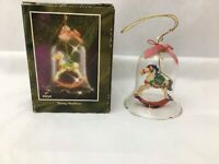 """Christmas ornament Victorian Rocking Horse Young Stallion Bell glass 3"""""""