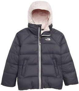 The North Face Girls Double Down TriClimate 3 in 1 Jacket Grey Pink Sz L 14 - 16
