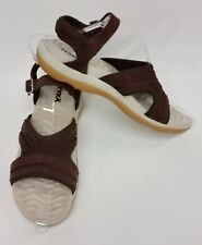 Ryka Shoes Sandals Ankle Strap Suede Brown Womens Size 8 M