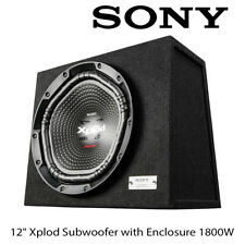 """Sony XS-NW1202E - 12"""" Xplod Subwoofer with Enclosure 1800W Total Power Bass Sub"""