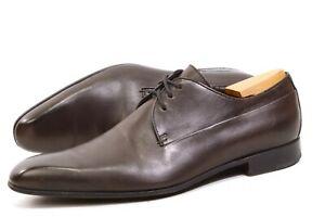 GUCCI mens derby UK 8.5 / US9.5 / 42.5Eur shoes lace up brown 147529 Authentic