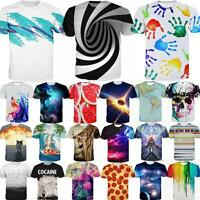 Fashion Women Men 3D Print Summer Short Sleeve Tops Casual Graphic Tee T-Shirt
