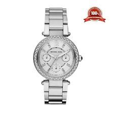 New Michael Kors MK5615 Mini Parker Silver Face Ladies Designer Round Watch
