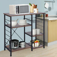 Mult-Tier Kitchen Baker Rack Microwave Oven Stand Storage Cart Workstation Shelf