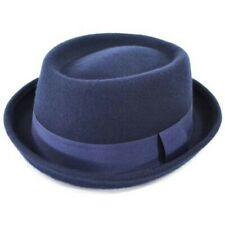 Hat Pork Pie Wool 100 Felt Porkpie Trilby Crown Mens Breaking Bad Walter New