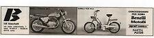 Pubblicità 1973 MOTO BENELLI GARELLI MOTOR ROMA advert werbung publicitè reklame