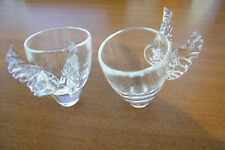 Free Spirit David Mcleod Signed 2 Small Angel Wing Cups Glasses Nice Christmas
