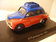 Voiture ELIGOR 1/43 RENAULT 4CV Prototype TAXI 1953 4 cv