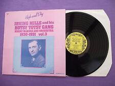 """Irving Mills & His Hotsy Totsy Gang 1930-1931 vol 3. 12"""" Vinyl Album (12A852)"""