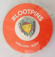Lootpins Quest Pin Badge Vintage Rare (N16)