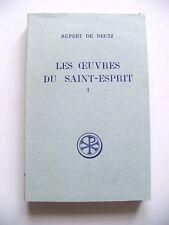 RUPERT DE DEUTZ : LES OEUVRES DU SAINT-ESPRIT 1 / SOURCES CHRÉTIENNES 131 / CERF