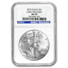 2010 Silver American Eagle MS-70 NGC (Early Releases)