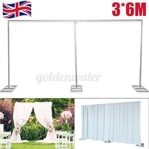 3*6M Wedding Backdrop Stand Decor Arch Iron Frame Adjustable Bridal Flower Xmas