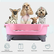 New listing Double Dog/Cat Pet Bowls Dish Stainless Steel Feeder Cat Food Water Iron Bowl
