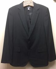 H&M Men's Pinstripe Jacket Blazer Black/ White 2 Button 44R