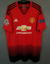 MANCHESTER UNITED 2018/2019 CHAMPIONS LEAGUE SOCCER FOOTBALL SHIRT JERSEY SIZE L