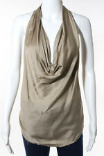 HELMUT LANG Ivory Sleeveless Scoop Neck Tank Top Size P