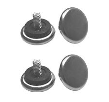 "1/4"" Thread Adjustable Table Feet - Nickel Base Pad (Set of 4 Feet)"