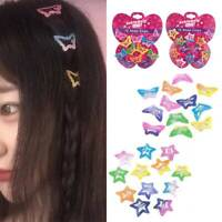 12pcs Colorful BB Snap Hair Clip Hairpin Barrette Headwear For Baby Kids Girls