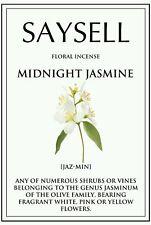 Midnight Jasmine Floral 20 Incense Joss Sticks Agarbatti - TOP QUALITY FRAGRANCE