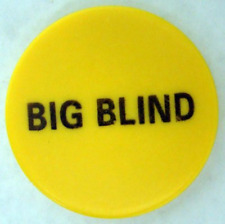 """2"""" Yellow Ceramic Big Blind Poker Button by Brybelly"""