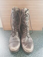 Mens All Saints Military Style Boot Size 10 Distressed Finish